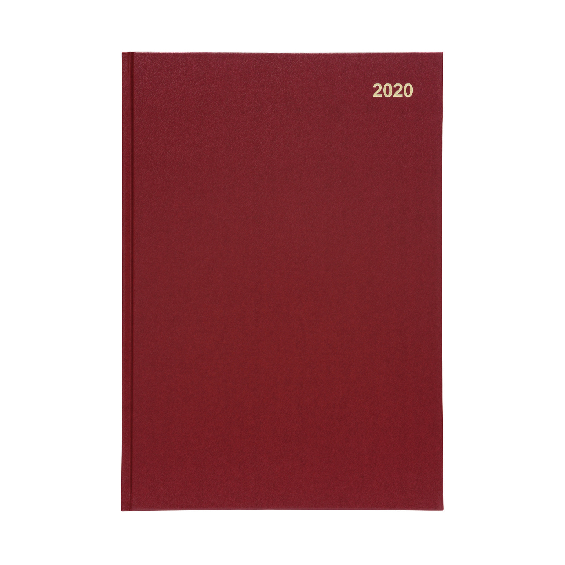 5 Star Office 2020 Diary Two Days to Page Casebound and Sewn Vinyl Coated Board A4 297x210mm Red