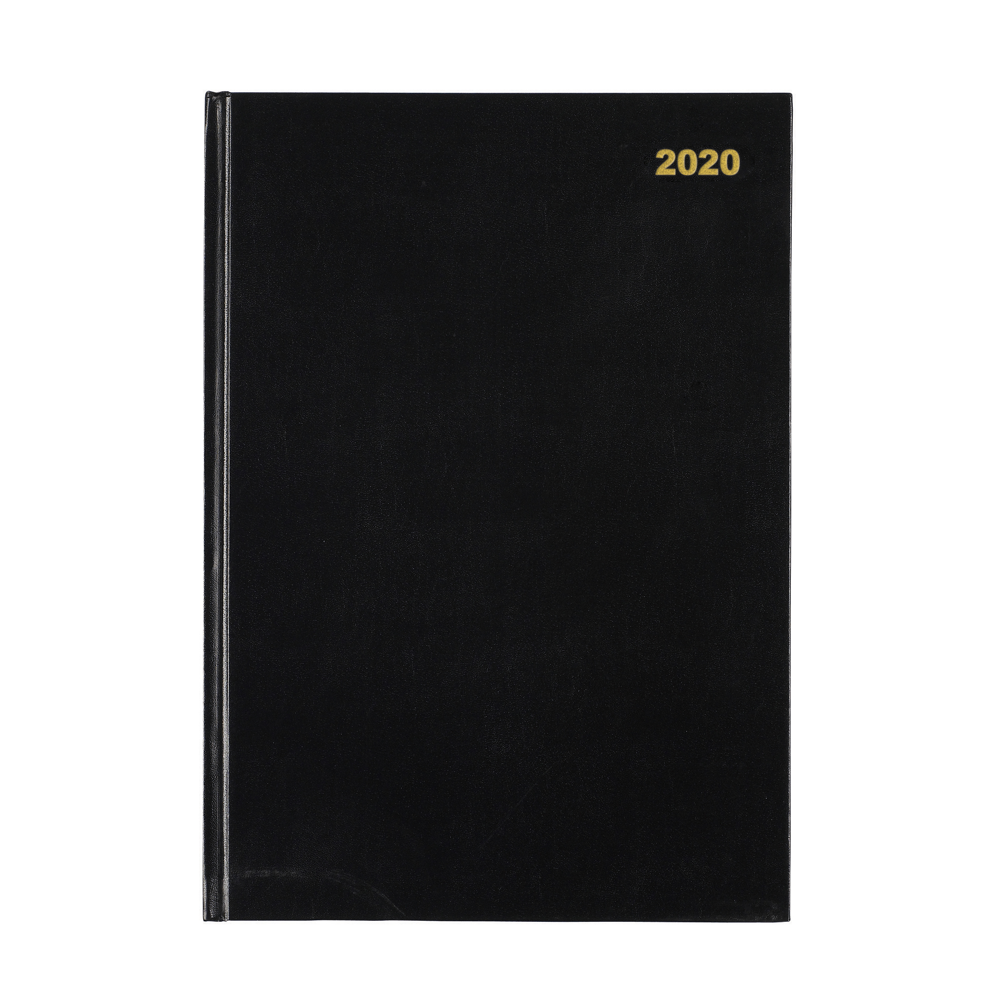 5 Star Office 2020 Two Pages to a Day Casebound and Sewn Vinyl Coated Board A4 297x210mm Black