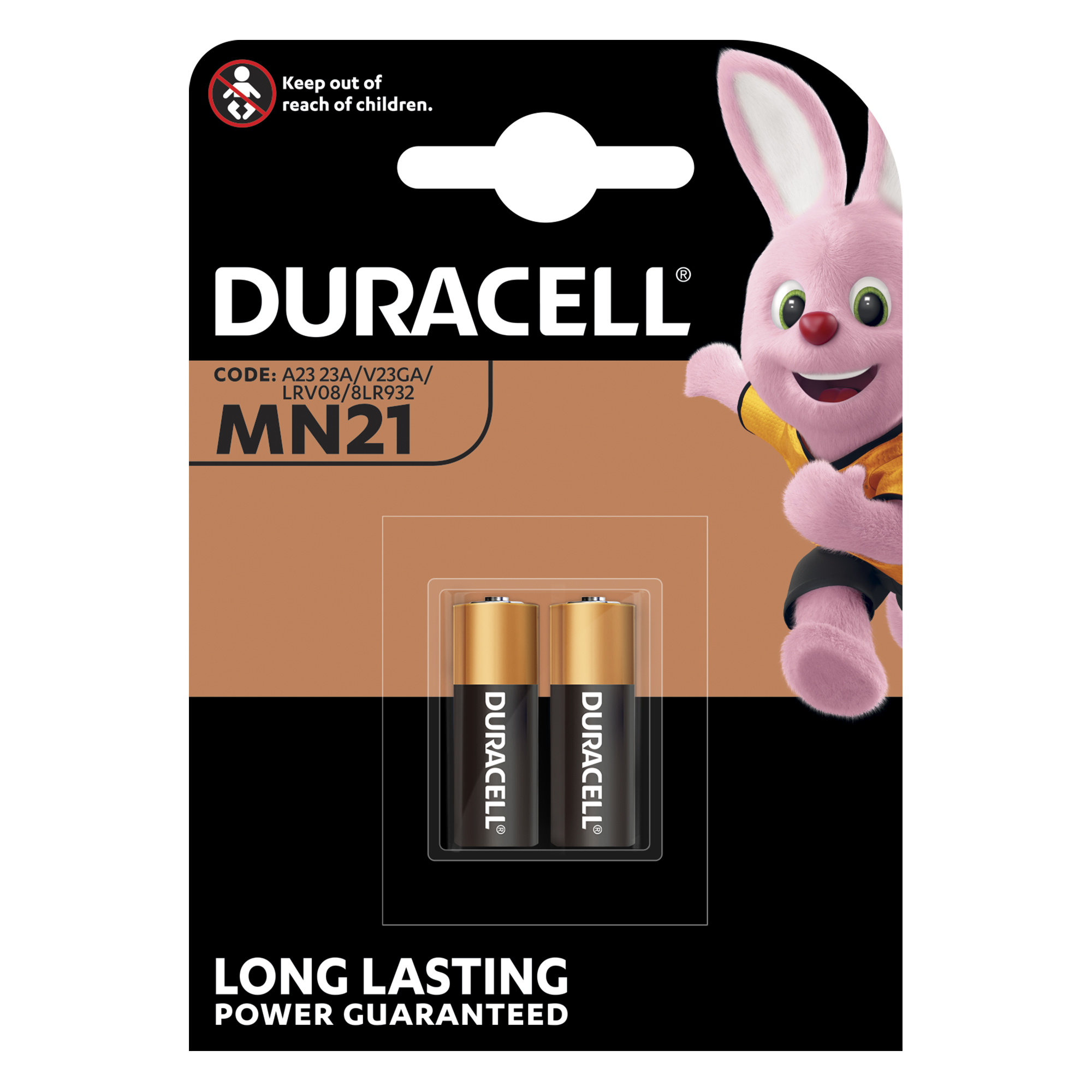 Button Cell Duracell MN21 Battery Alkaline for Camera Calculator or Pager 1.2V Ref 75072670 Pack 2