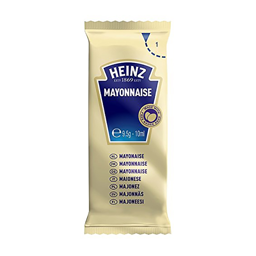 Condiments Heinz Free Range Mayonnaise Sachets Single Portion 10g Ref 76003386 [Pack 200]