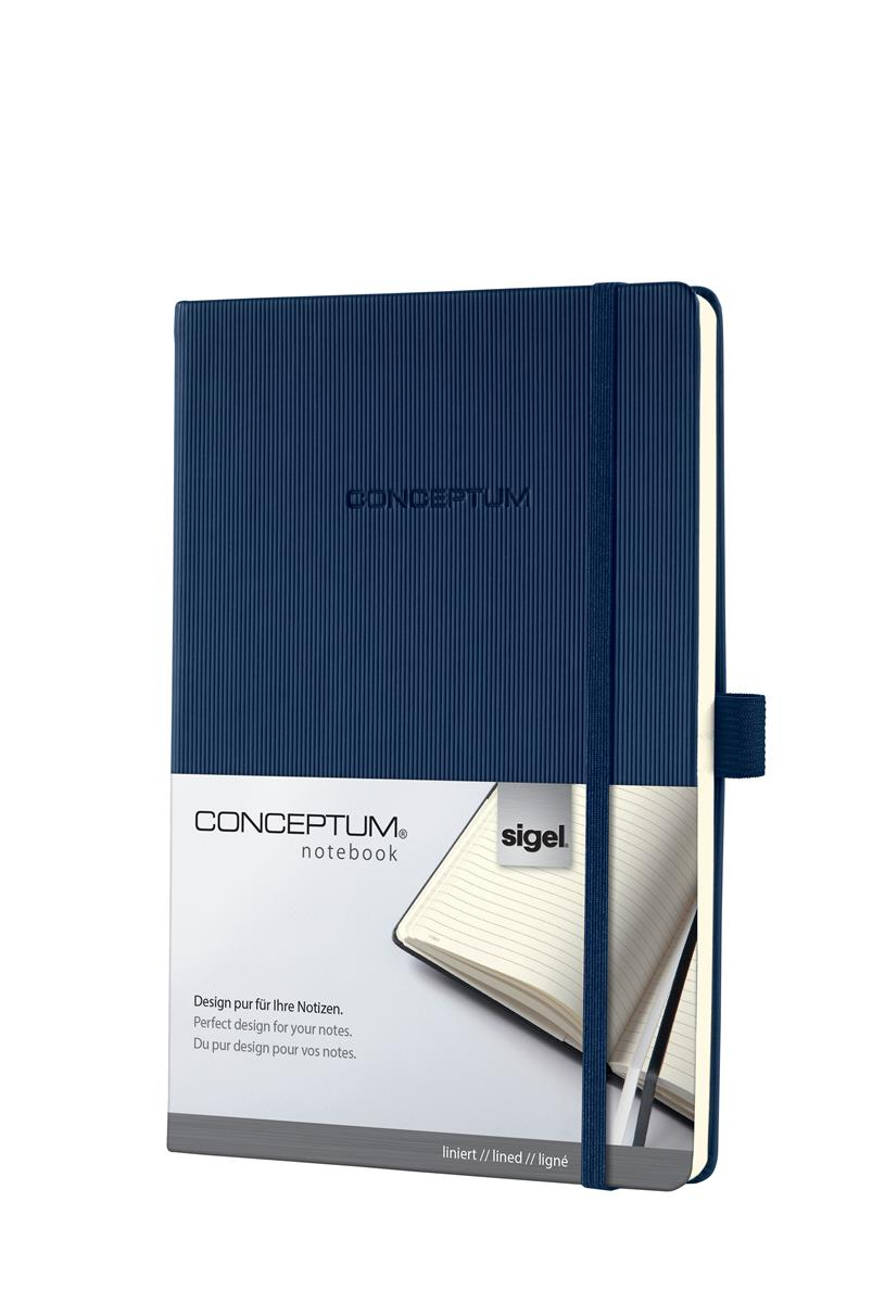 Image for Sigel Concept Notebook Hardcover Lined 80gsm 194pp PEFC A5 Blue Ref CO657