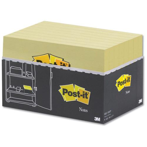 Image for Post-it Note Value Display Pack Dispenser with Pads 76x127mm Yellow Ref 655Y-VP20 [Pack 20]
