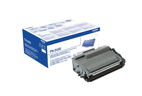 Brother TN3430 Laser Toner Cartridge Page Life 3000pp Black Ref TN3430