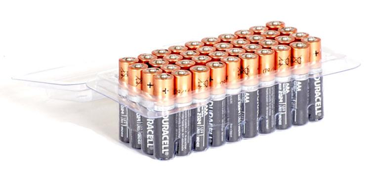 Image for Duracell Batteries Alkaline AAA Tub Ref AAADURB40T [Pack 40]