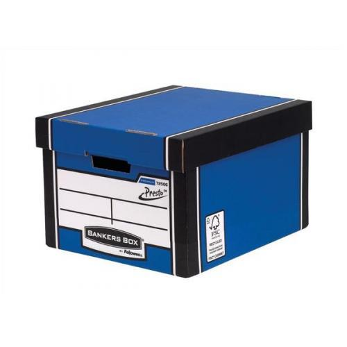 Image for Bankers Box by Fellowes Premium 725 Classic Storage Box Inside Blue White Ref 7250603 [Pack 10]