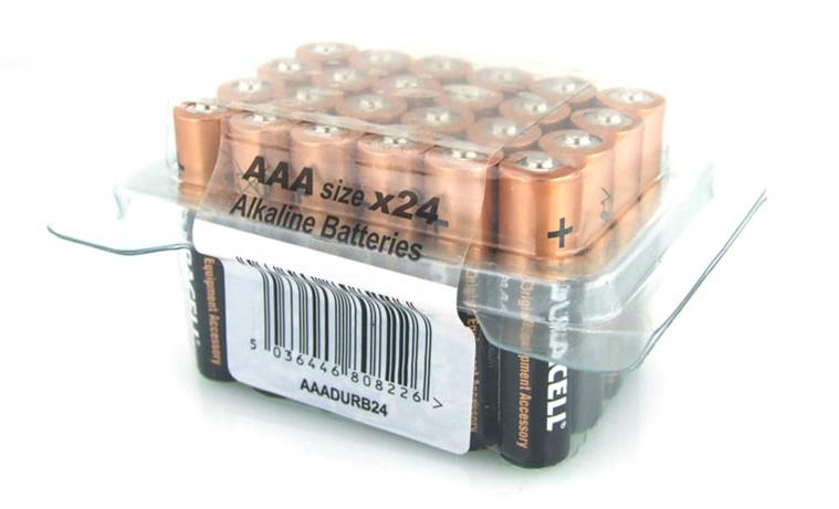 Image for Duracell Batteries Alkaline AAA Tub Ref AAADURB24T [Pack 24]
