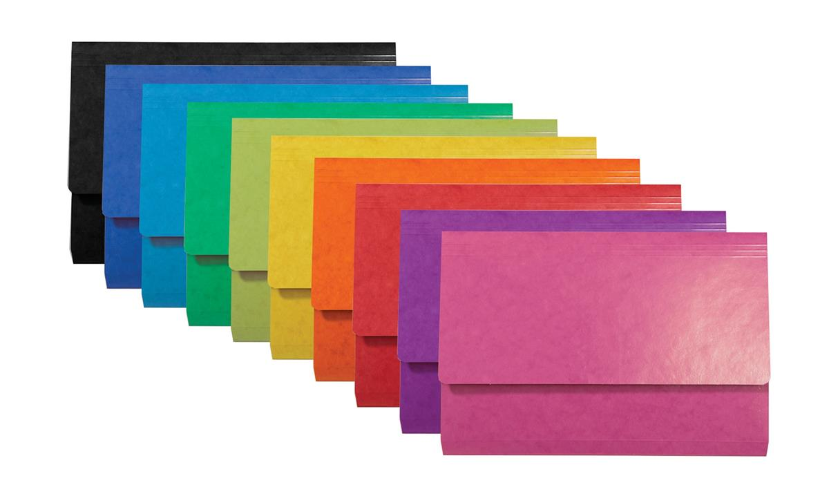 Iderama Document Wallets Assorted A4 Ref 6500Z [Pack 25]