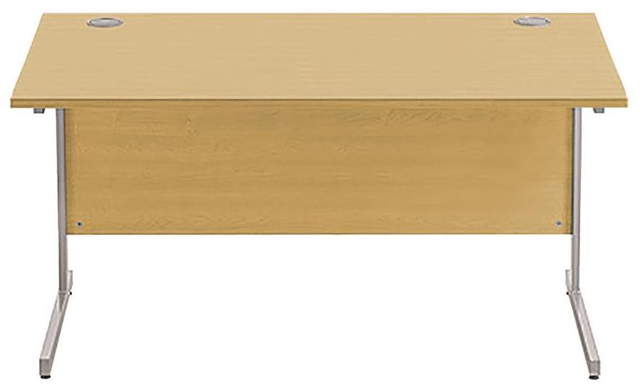 Image for Sonix Cantilever Desk Rectangular Silver Cantilever Leg 1400mm Natural Oak