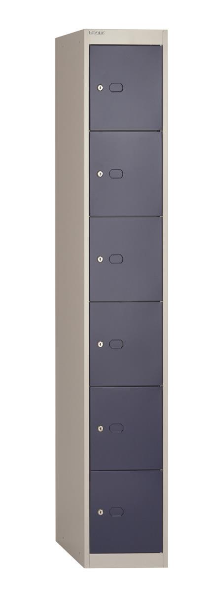 Image for Bisley Steel Locker 457 Six Door Grey/Blue
