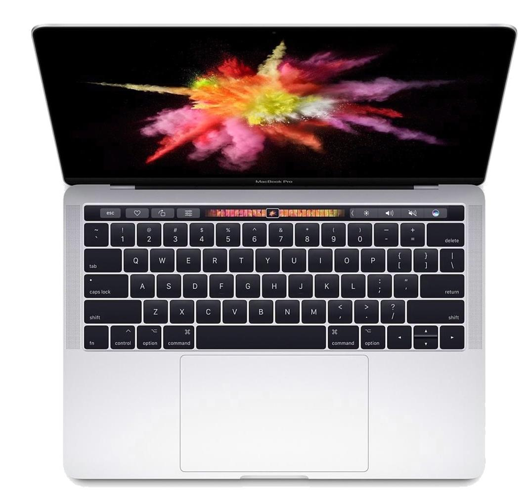 Image for Apple MacBook Pro 4K 13inch Touch Bar 3.1GHz WiFi Bluetooth 256GB SSD 8GB Ram Silver Ref MPXX2B