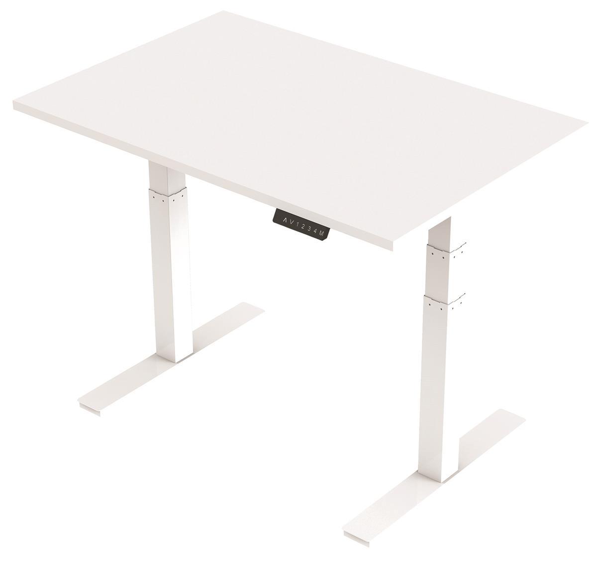 Image for Trexus Sit Stand Desk Height-adjustable White Leg Frame 1200mm White