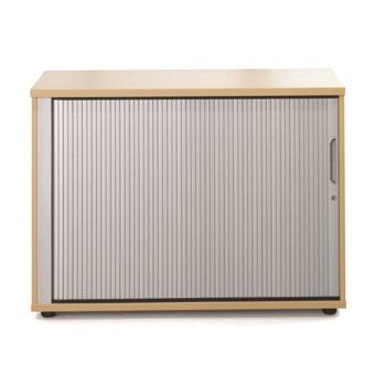 Image for Sonix Tambour Door Cupboard Low Acer Maple
