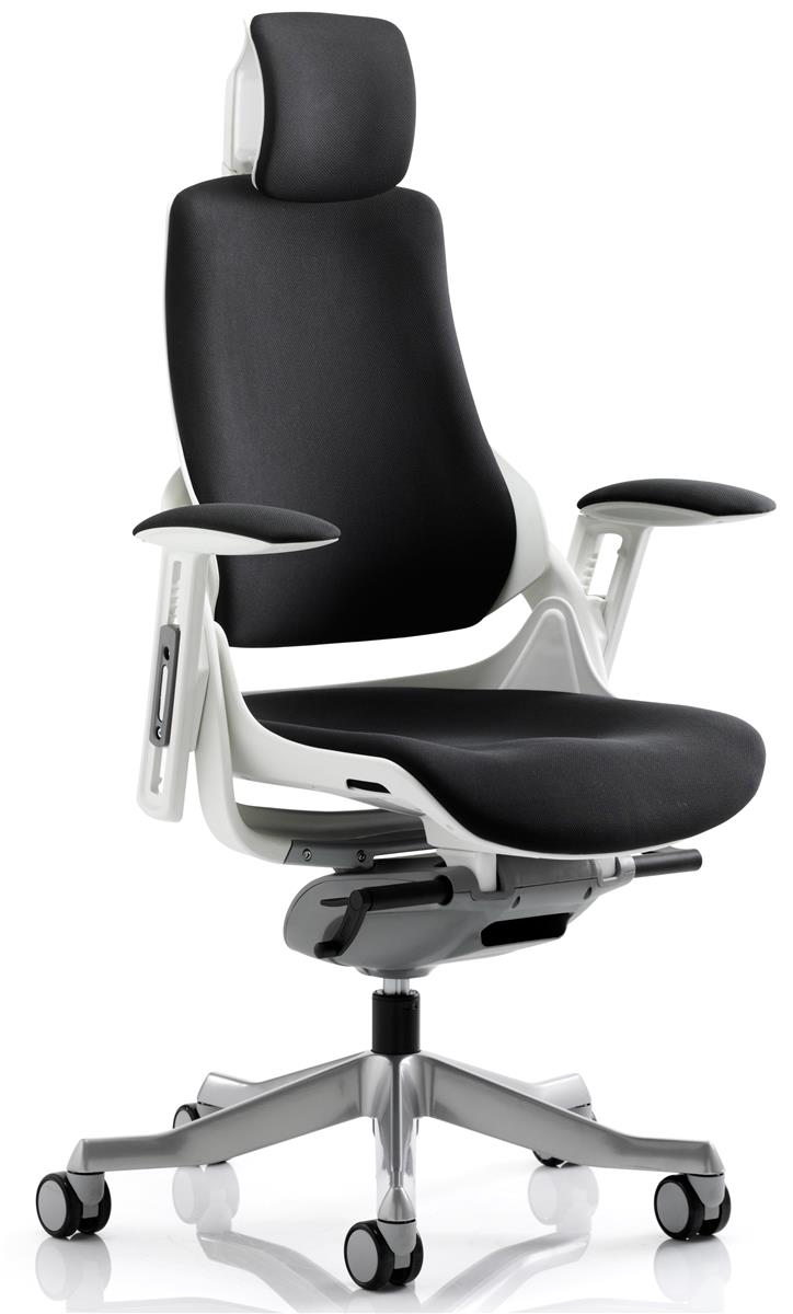 Image for Adroit Executive Chair Height-adjustable Arms Flat Packed Fabric Black