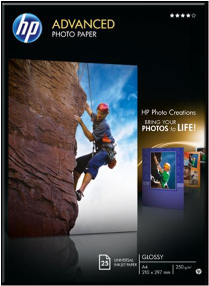 Image for HP Advanced Photo Paper Gloss A4 25 Sheets Ref Q5456A