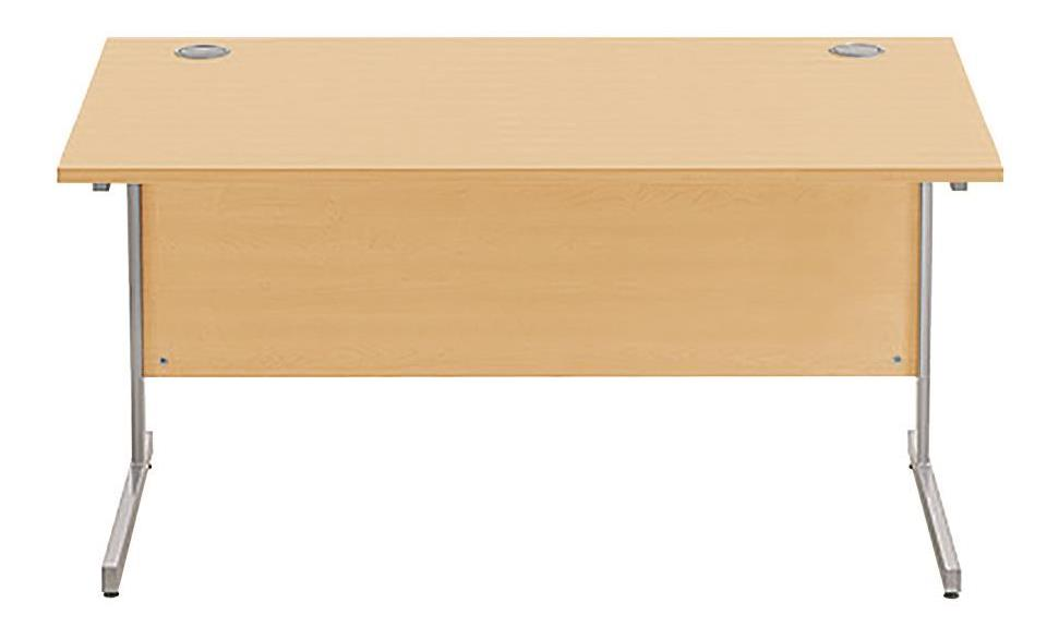 Image for Sonix Cantilever Desk Rectangular Silver Cantilever Leg 1400mm Acer Maple
