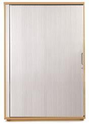 Image for Sonix Tambour Door Cupboard Midi Rich Beech/Silver