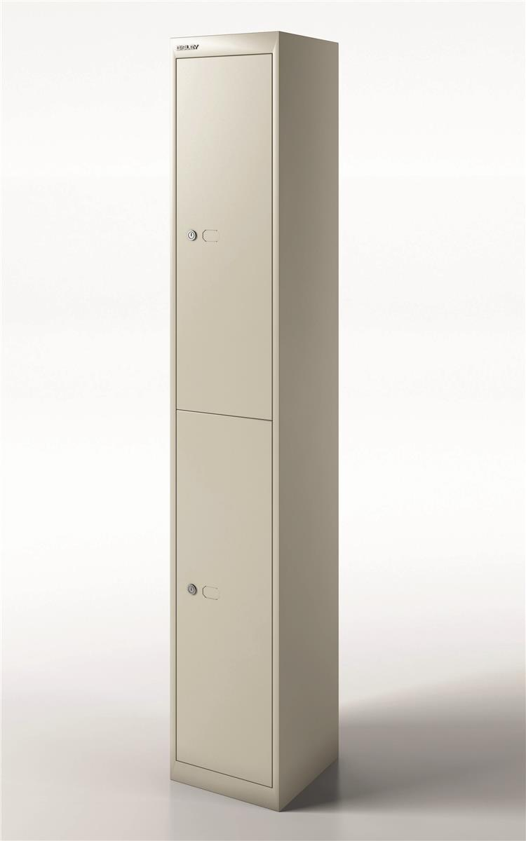 Image for Bisley Steel Locker 305 Two Door Goose Grey
