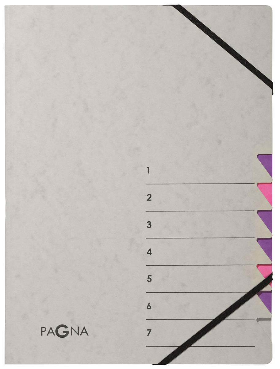 Pagna Pro 7 Part File A4 Grey and Pink [Pack 5] Ref 4430710