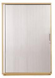 Image for Sonix Tambour Door Cupboard Midi Natural Oak/Silver
