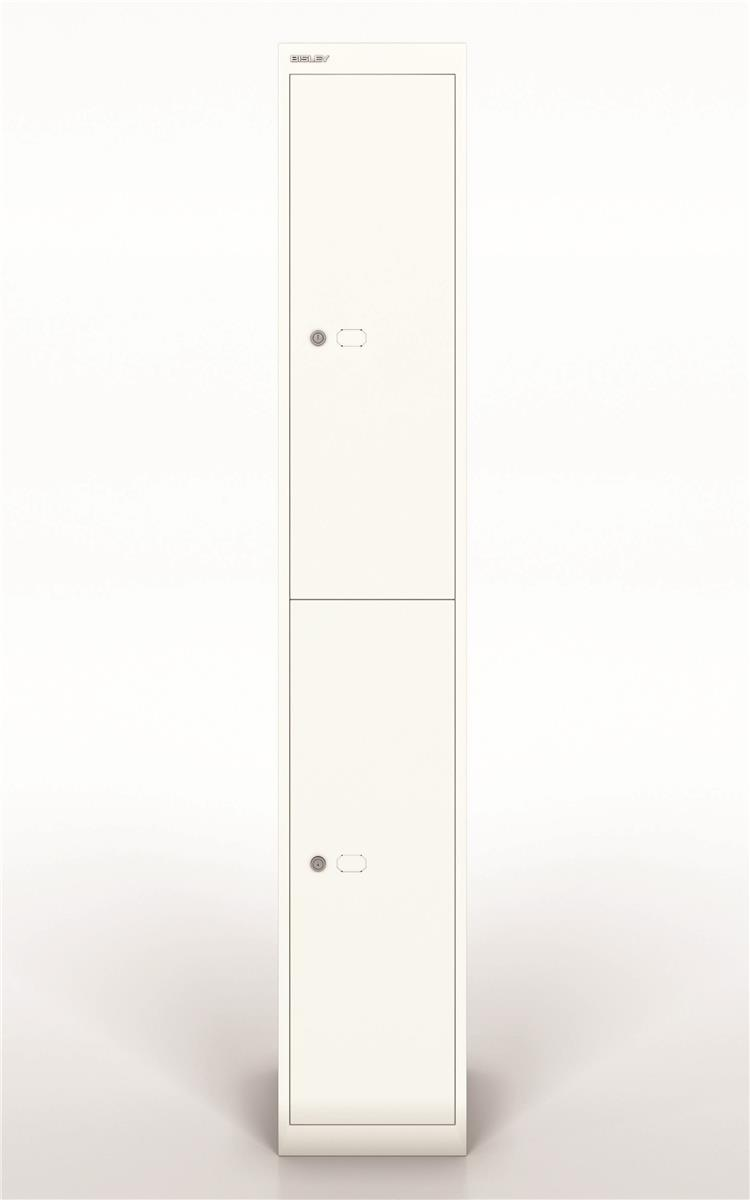 Image for Bisley Steel Locker 305 Two Door Chalk White