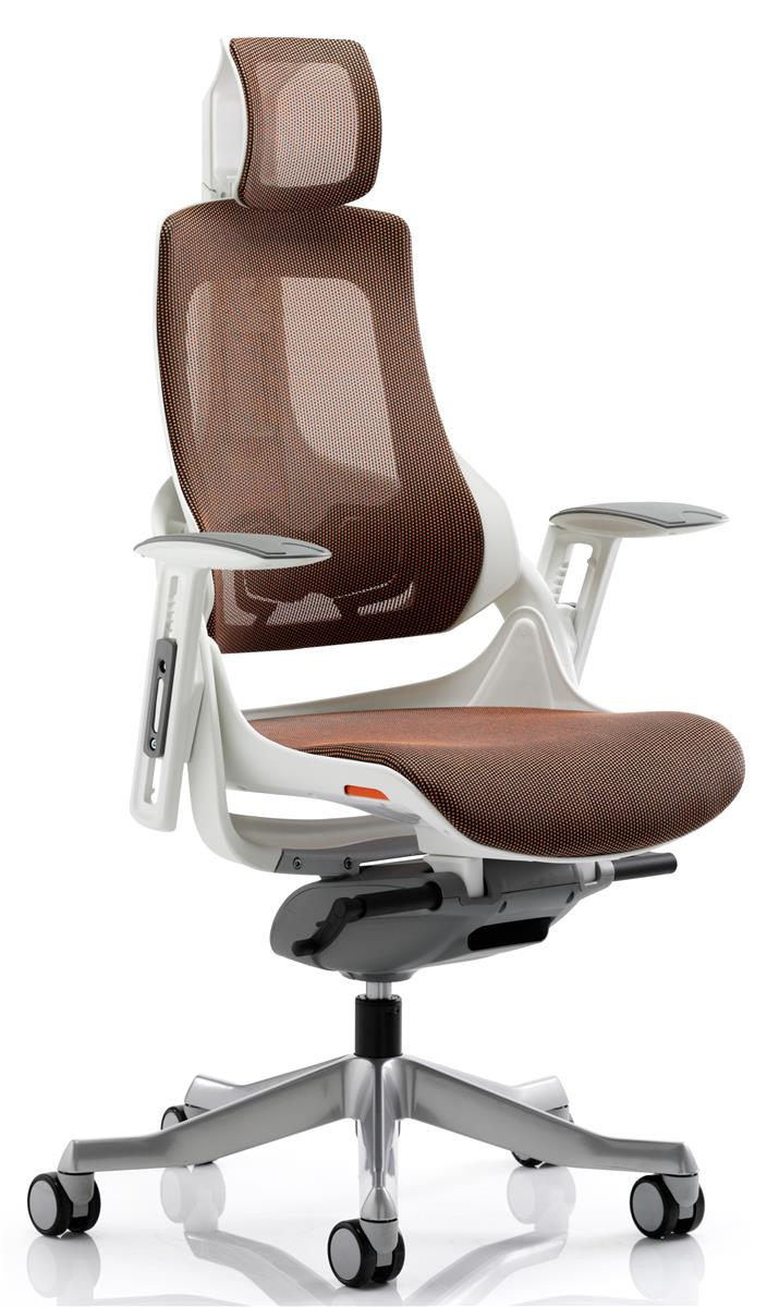 Image for Adroit Executive Chair Height-adjustable Arms Flat Packed Elastomer Mandarin