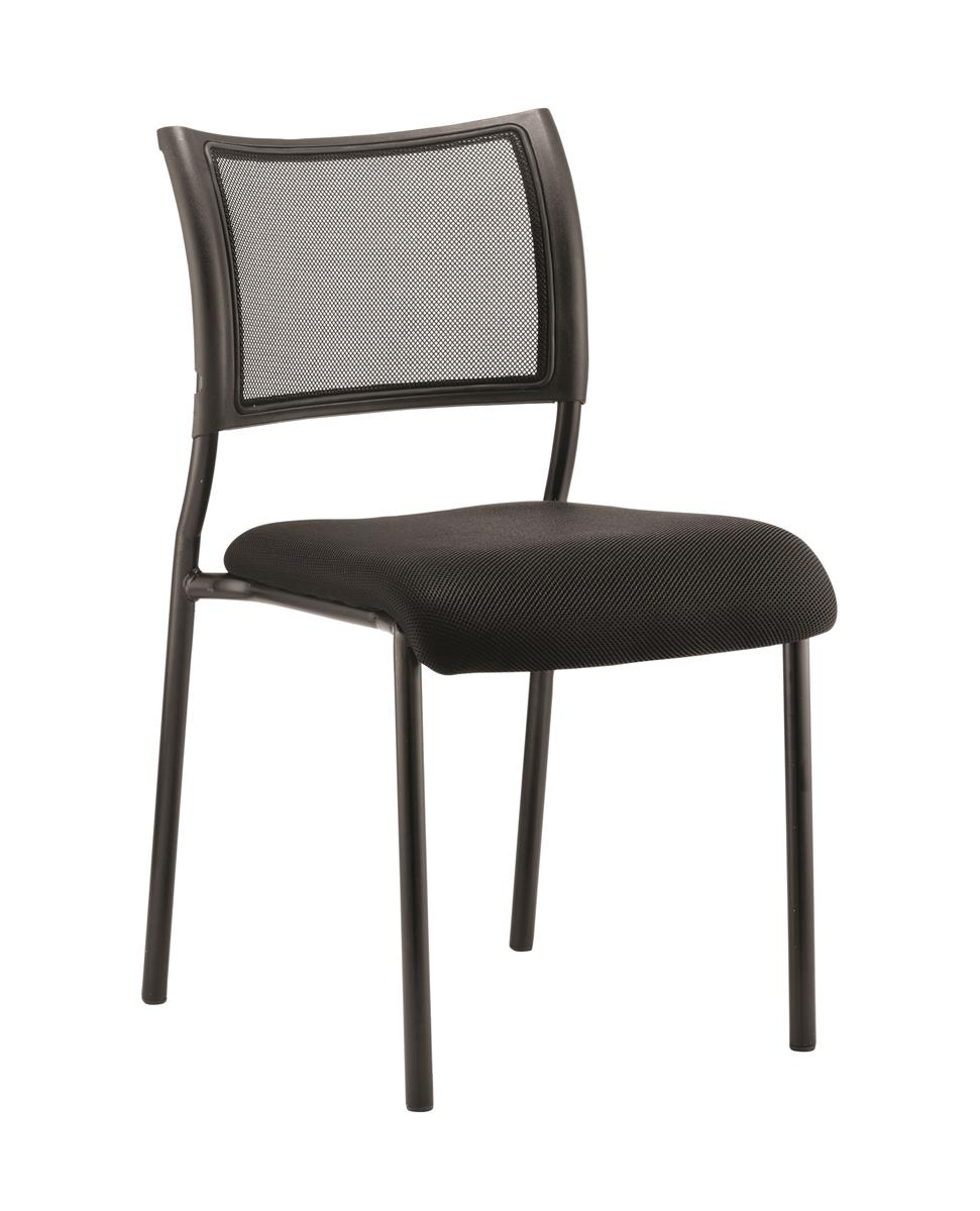 Image for Trexus Visitor Chair Pre-assembled Black Fabric Black Frame