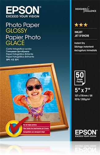 Image for Epson Premium Photo Paper Semi-gloss 200gsm 130x180mm Ref C13S042545 [Pack 50]