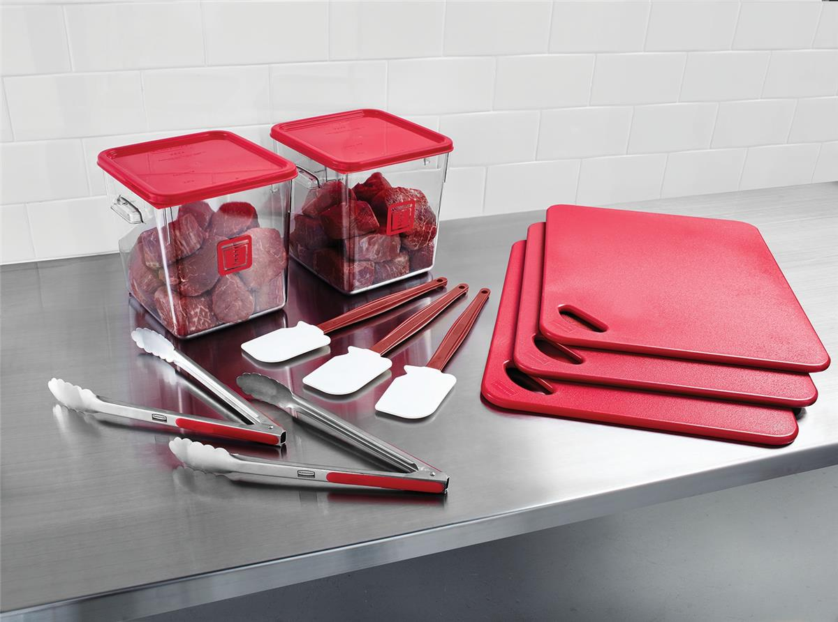 Food Service Kit 12 Piece Colour-coded Red