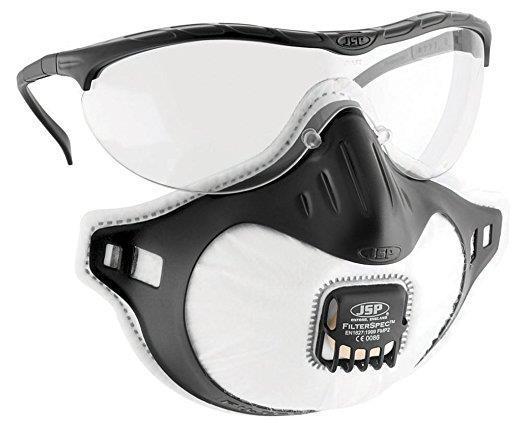 JSP Filterspec Spectacles Anti-scratch Black/Clear Ref ASG124-121-1G1 [Pack 10]