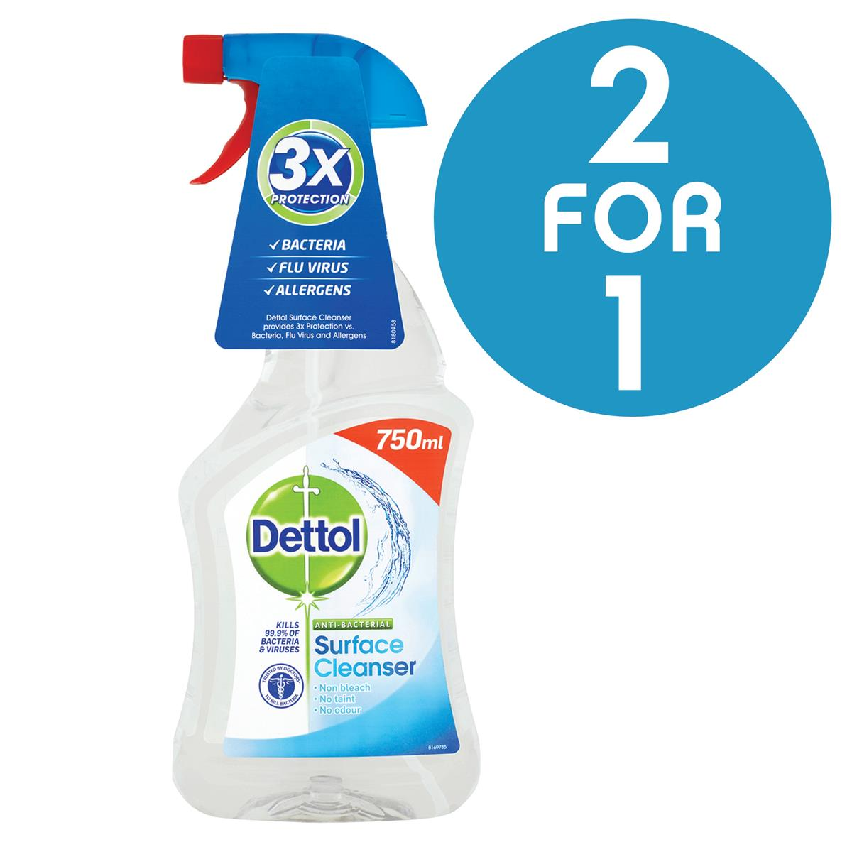 Dettol Surface Cleanser Spray 750ml Ref 14781 [2 For 1] Jan 2018