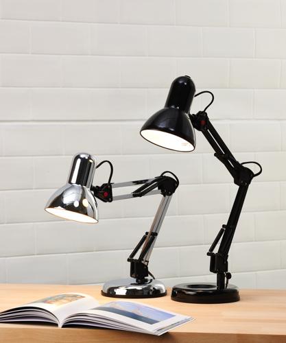 Desk Lamp Hobby Adjustable 35W Reach 350mm H520mm Black