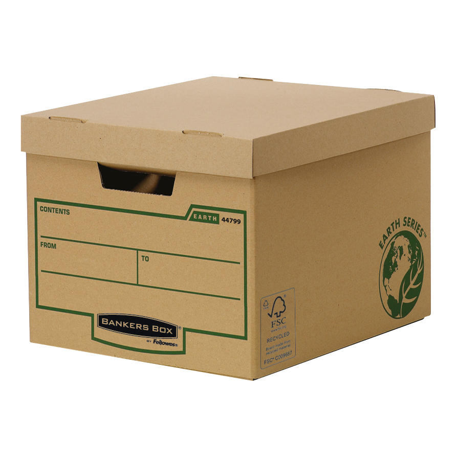 Fellowes Bankers Box Earth Series Heavy Duty Standard Box FSC Ref 4479901 [Pack 10]