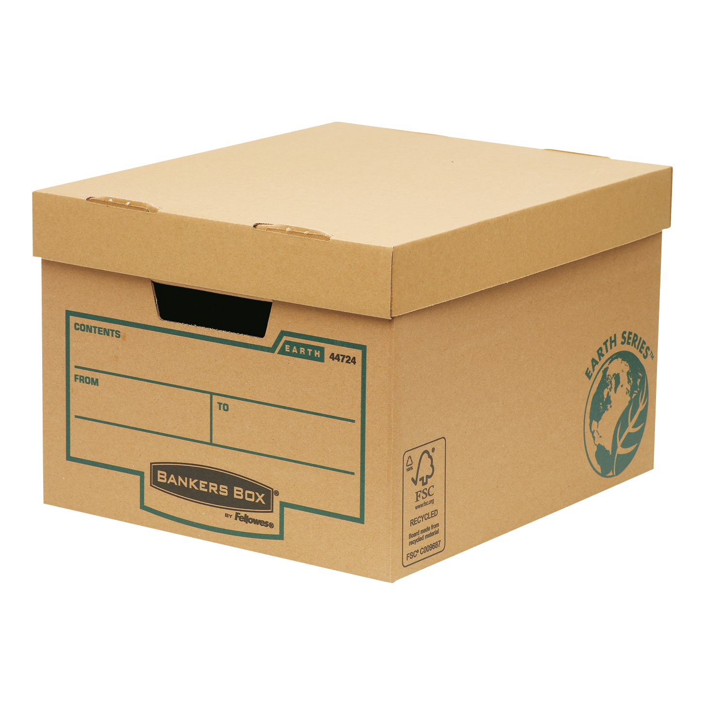Storage Boxes Bankers Box by Fellowes FSC Earth Series Storage Box Budget Brown Ref 4472401 Pack 10