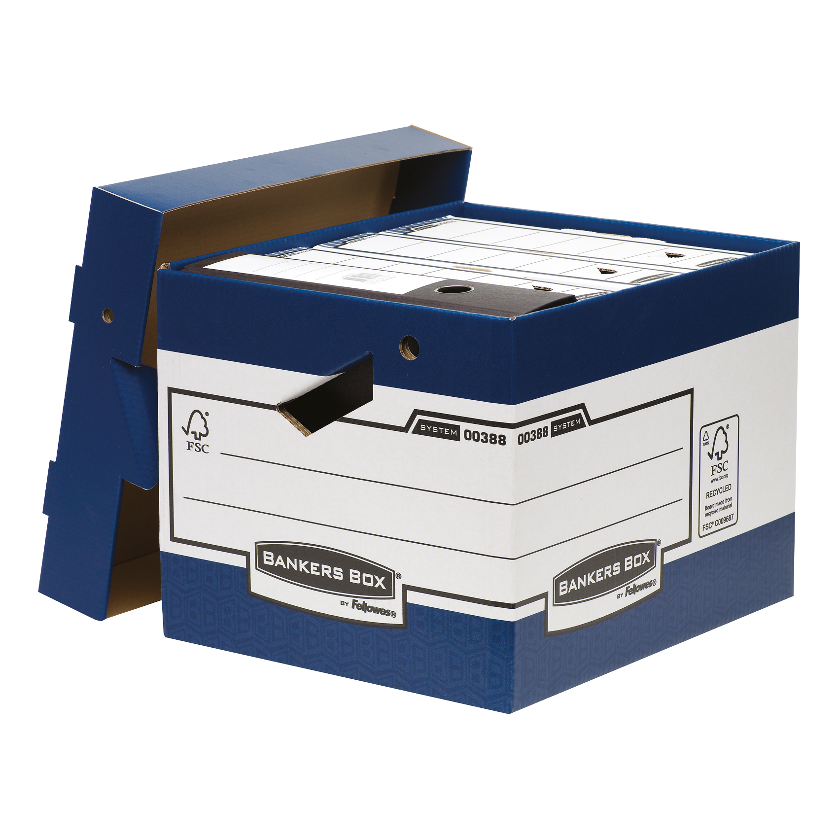 Bankers Box by Fellowes Ergo Stor Heavy Duty FastFold FSC Ref 38801 Pack 10