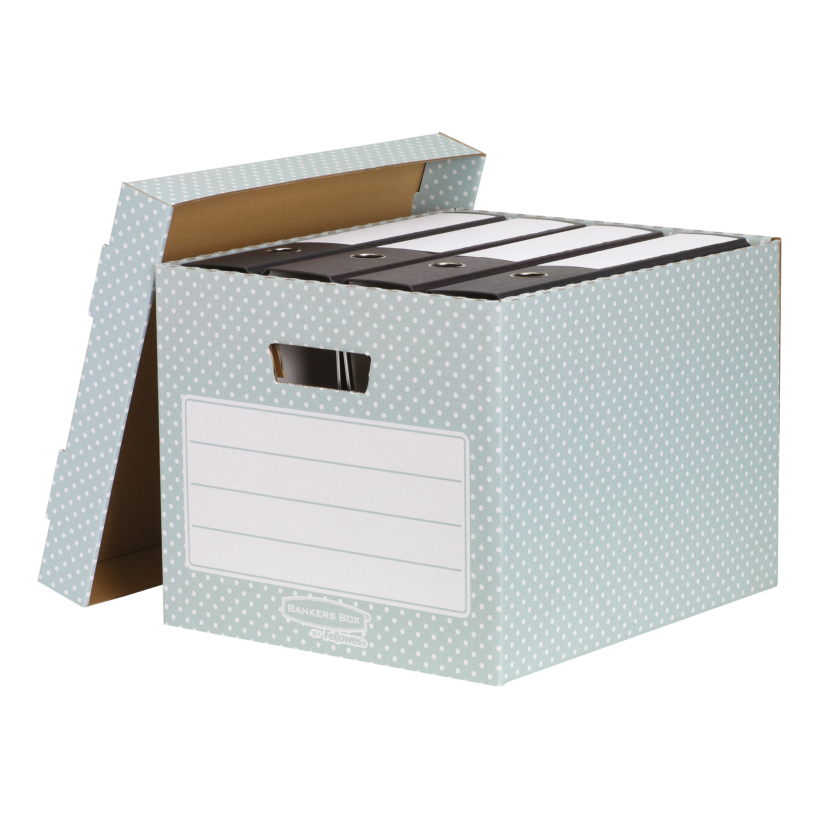 Bankers Box by Fellowes Style Storage Box Recycled FSC Green/White Ref 4481301 Pack 4