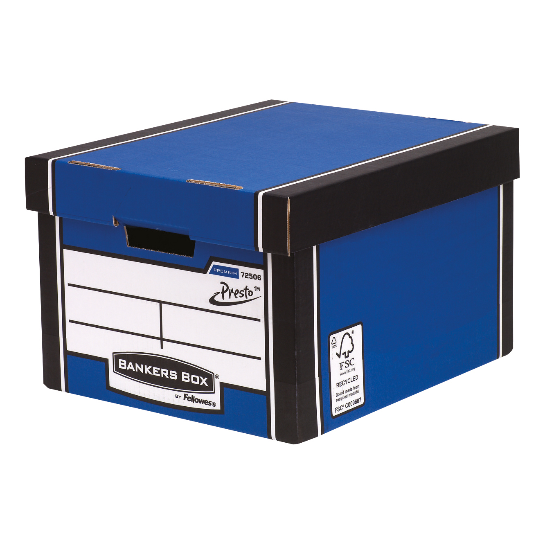 Storage Boxes Bankers Box Premium Storage Box (Presto) Classic Blue FSC Ref 7250602 [Pack 10]