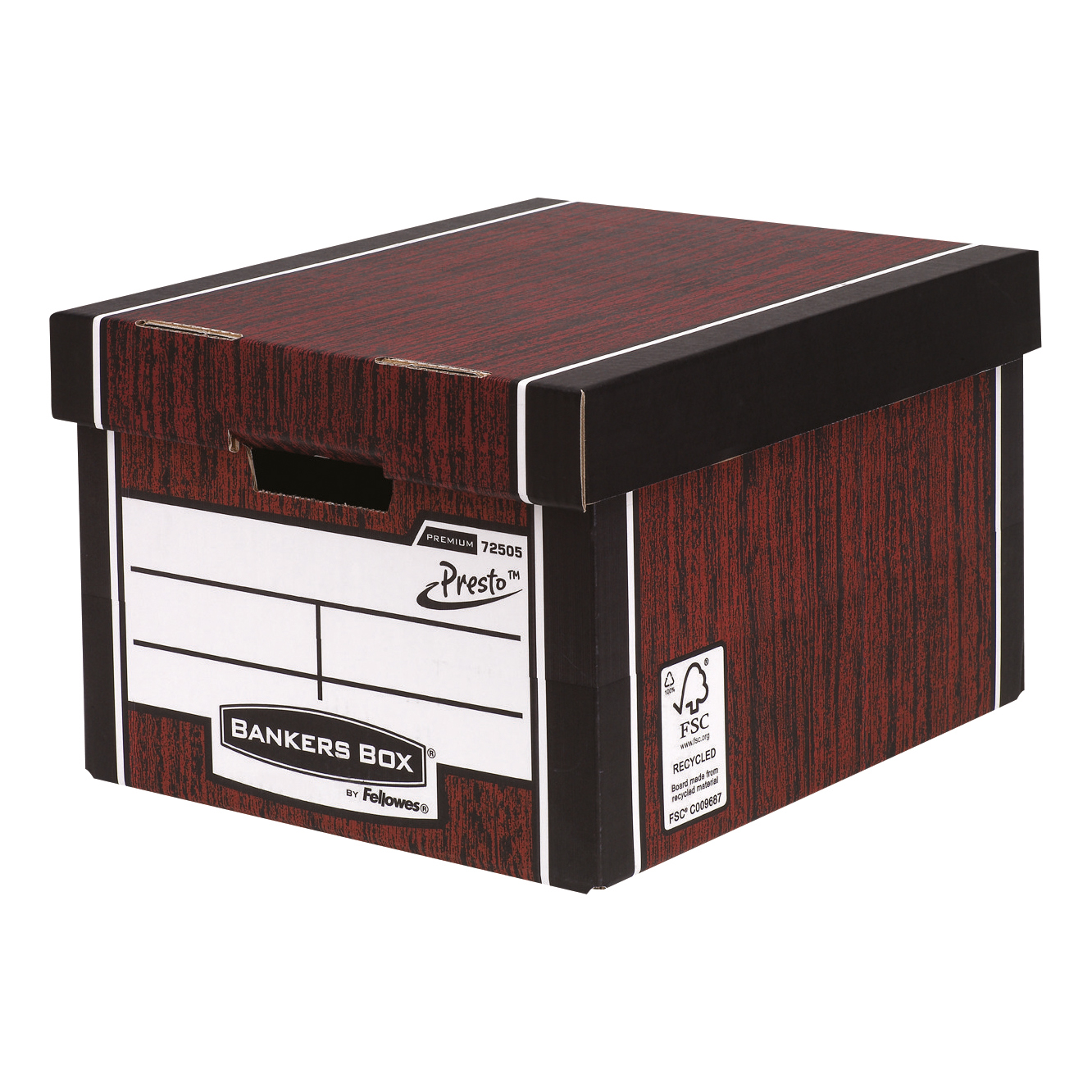 Bankers Box Premium Storage Box Presto Clsc W/grain FSC Ref7250503 Pack 12 12 for the price of 10