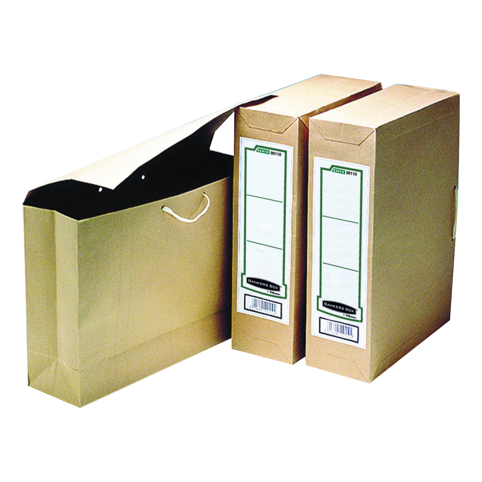 Storage Bags Bankers Box by Fellowes Basics Storage Bag File Foolscap W101xD254xH356mm Ref 00110 Pack 25