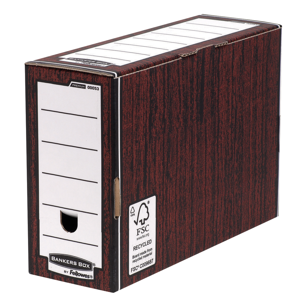Storage Bags Bankers Box by Fellowes Premium Transfer File Woodgrain Ref 5302-FF Pack 10