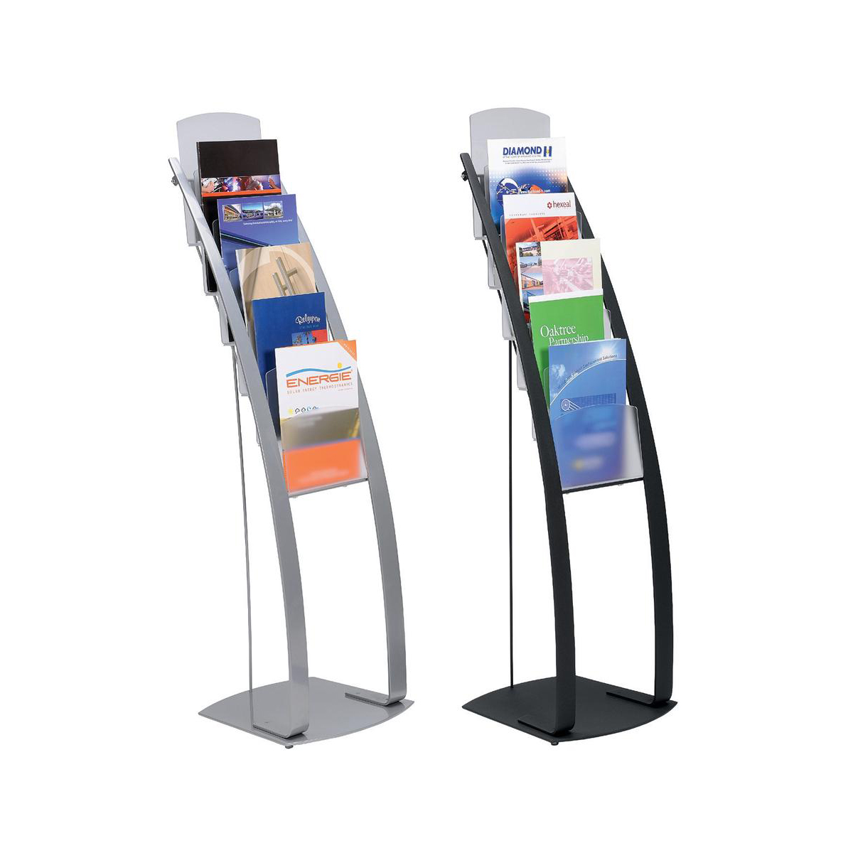Image for Literature Display Floor Stand 6 x A4 Pockets Silver
