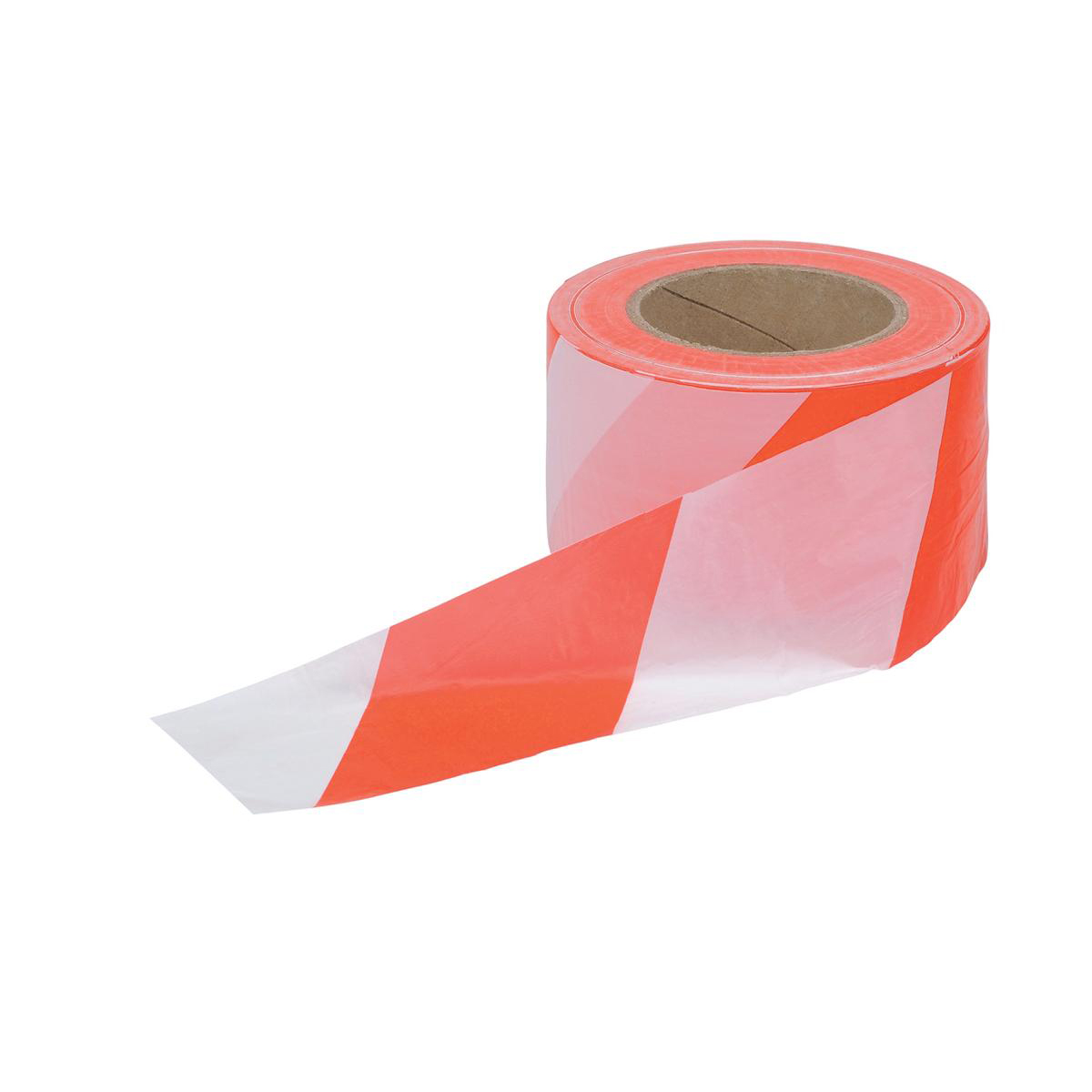 Printed & Coloured Tape 5 Star Office Barrier Tape in Dispenser Box 70mmx500m Red and White