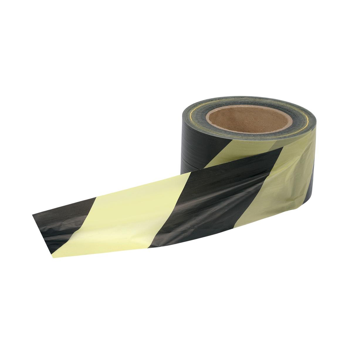 Image for 5 Star Office Barrier Tape in Dispenser Box 70mmx500m Yellow and Black