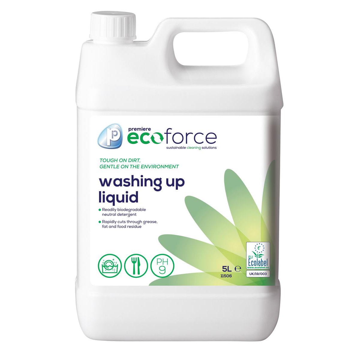 Ecoforce Washing-Up Liquid 5 Litre Ref 11506 Pack 2