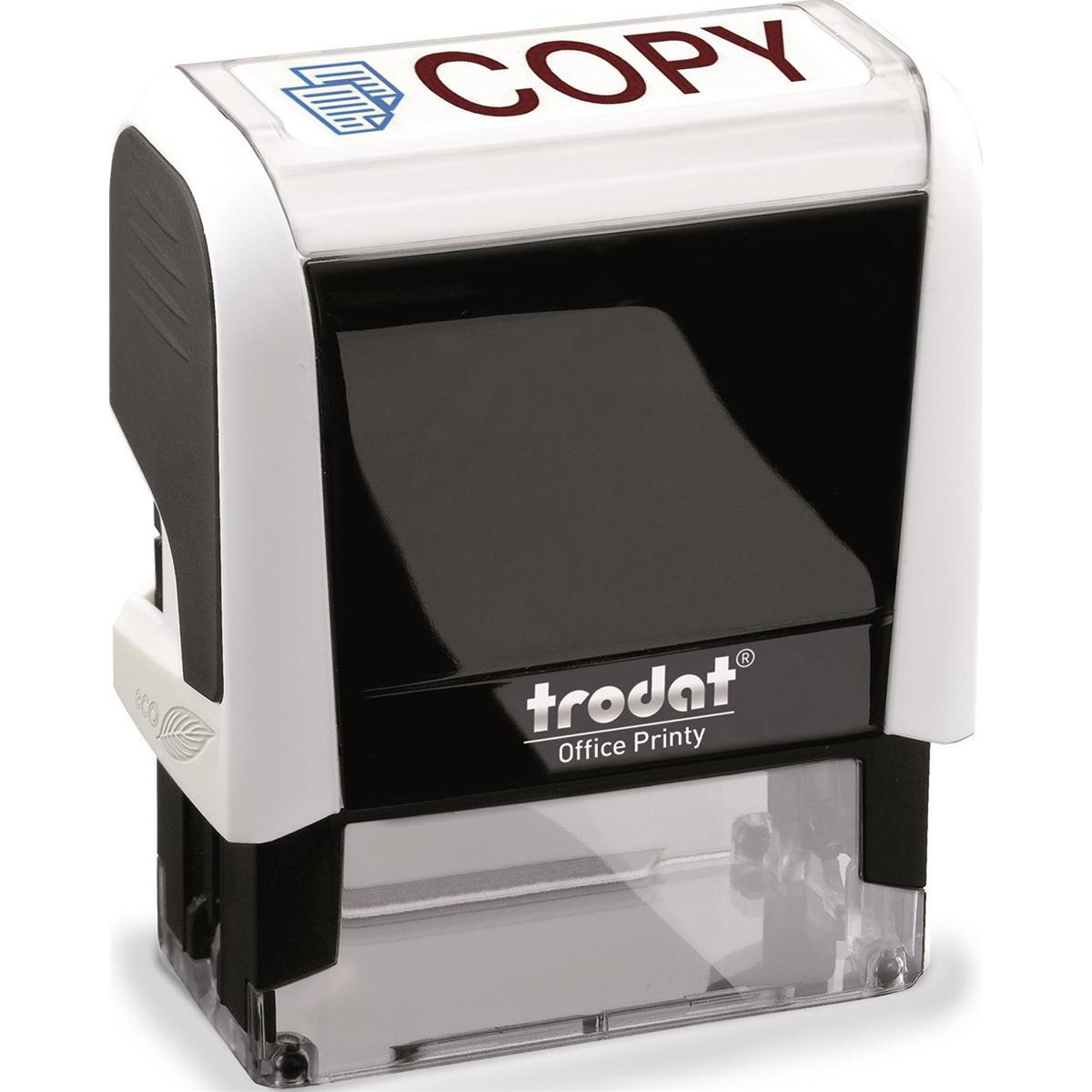Trodat Office Printy Stamp Self-inking COPY 46x16mm Reinkable Red and Blue Ref 77298