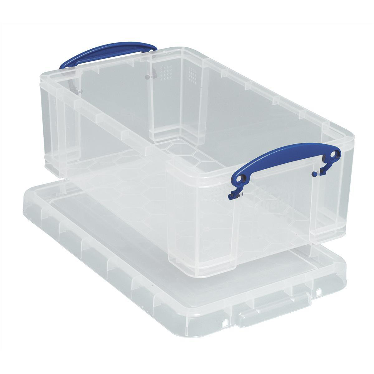 Tool Boxes Really Useful Storage Box Plastic Lightweight Robust Stackable 9 Litre W255xD395xH155mm Clear Ref 9C