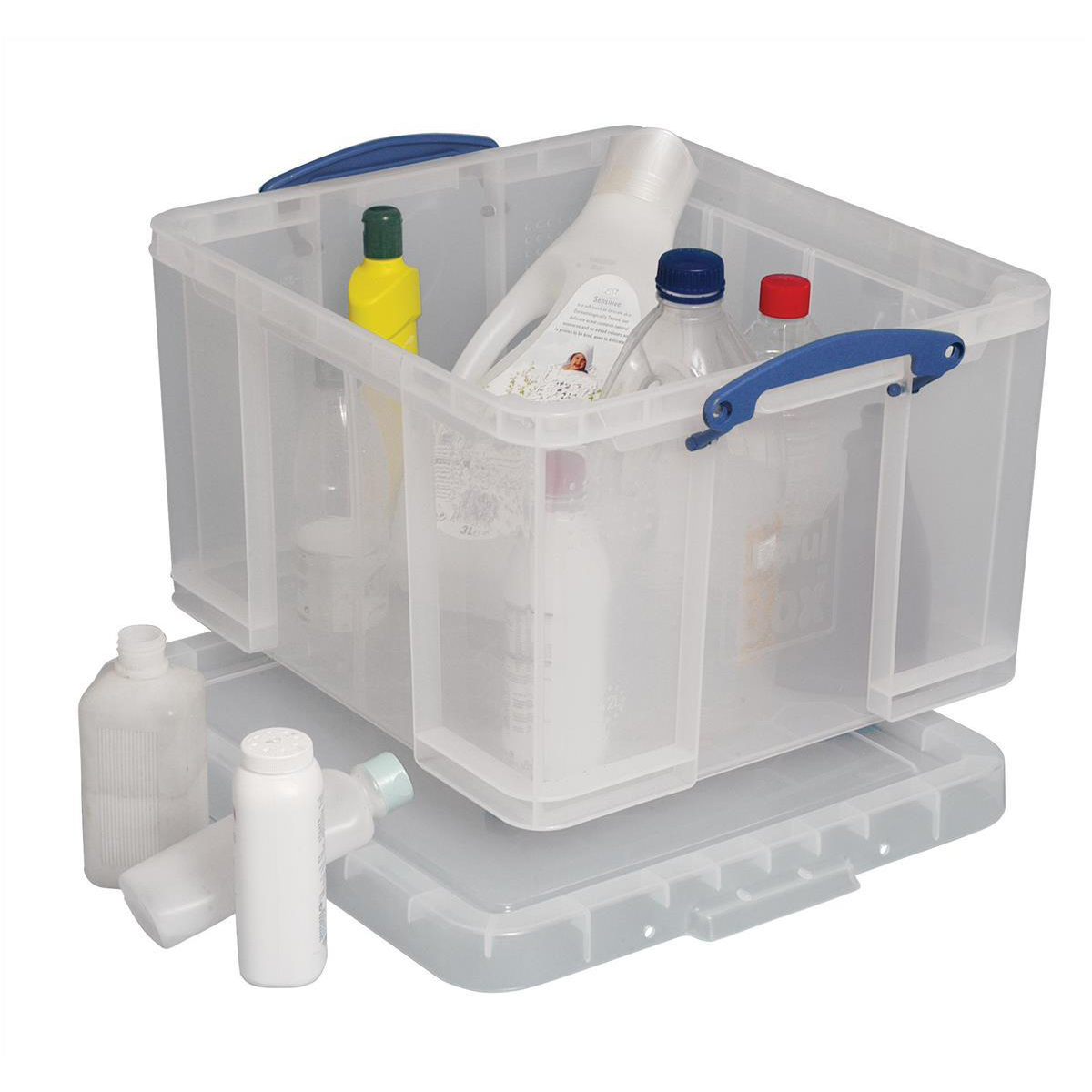 Tool Boxes Really Useful Storage Box Plastic Lightweight Robust Stackable 42 Litre W440xD520xH310mm Clear Ref 42C