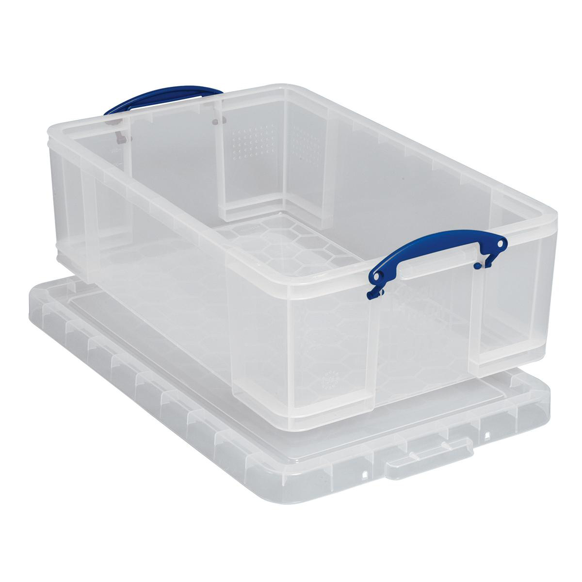 Tool Boxes Really Useful Storage Box Plastic Lightweight Robust Stackable 50 Litre W440xD710xH230mm Clear Ref 50C