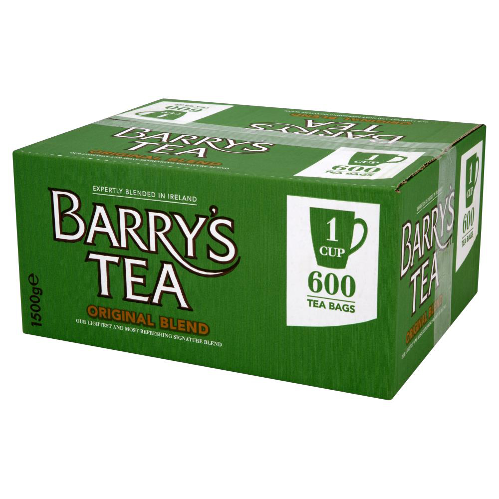 Tea bags Barrys Original Green Label 1 Cup Tea Bags Pack 600