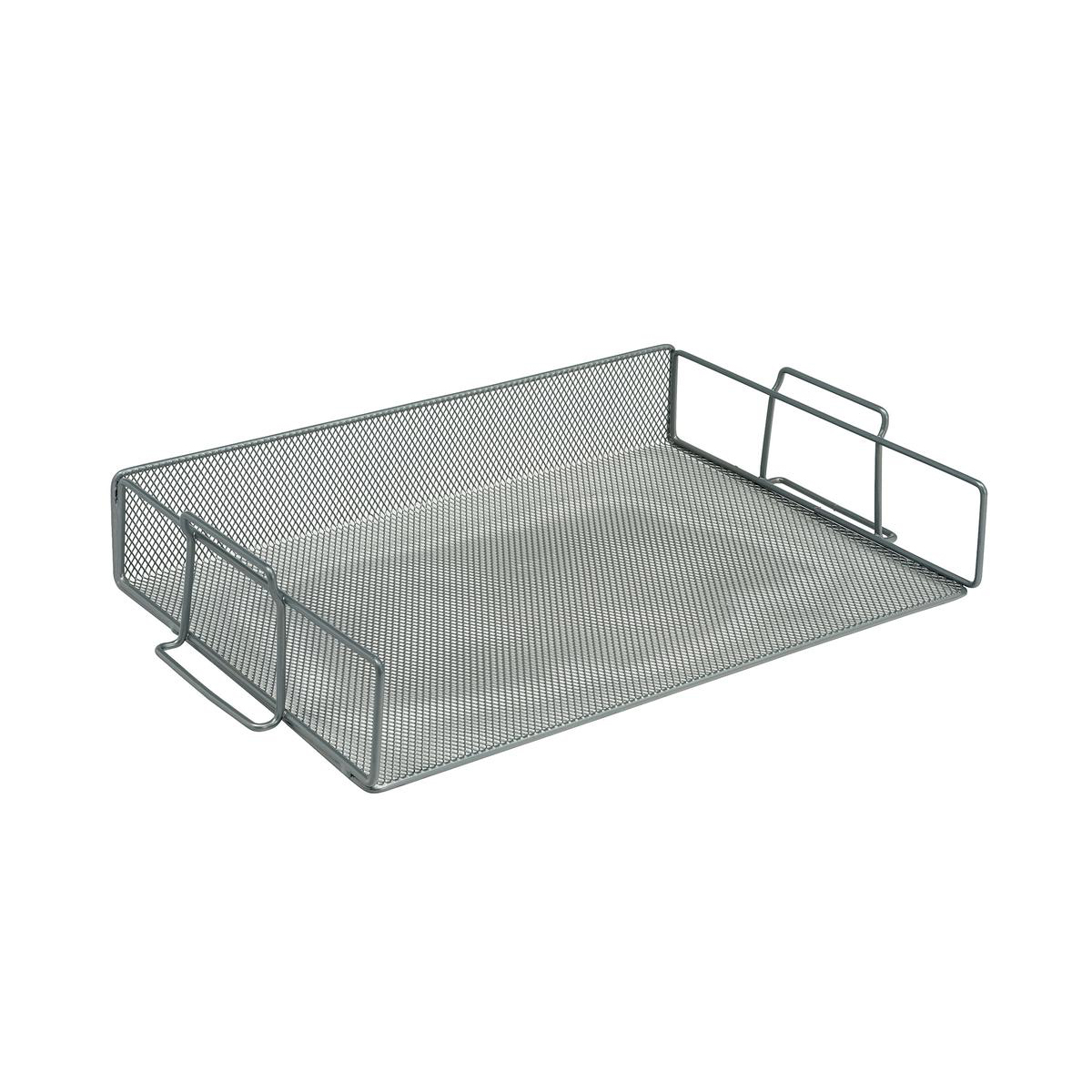 Letter Trays 5 Star Office Mesh Letter Tray Scratch Resistant Stackable Side Load Landscape Foolscap Silver