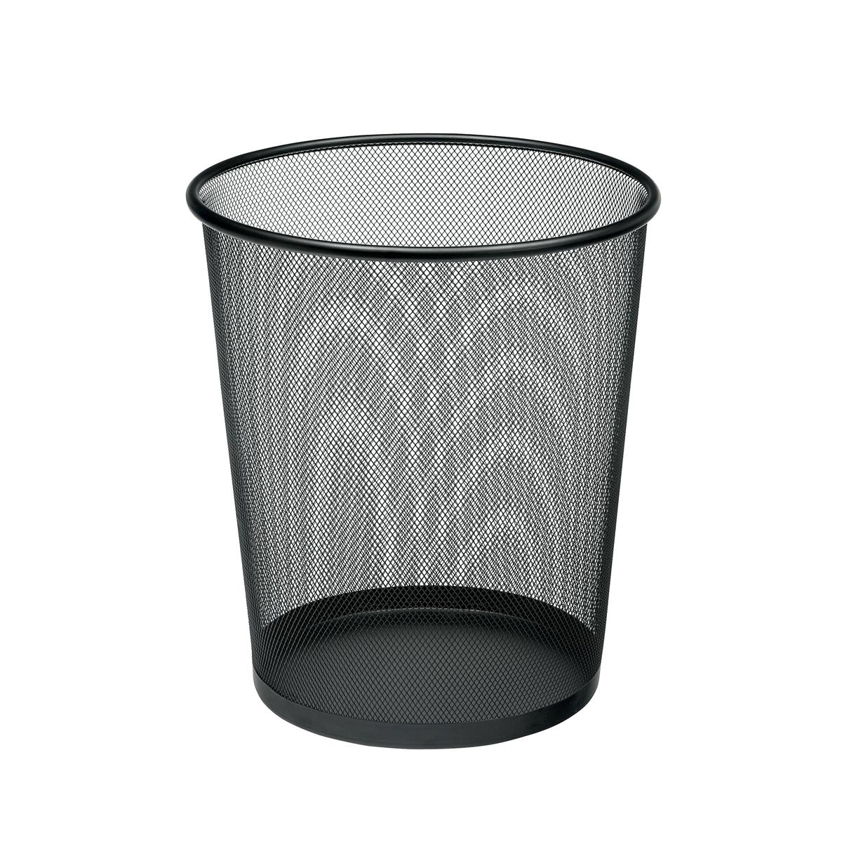 5 Star Office Mesh Waste Bin Lightweight Sturdy Scratch Resistant 15-20 Litres 275x350mm Black